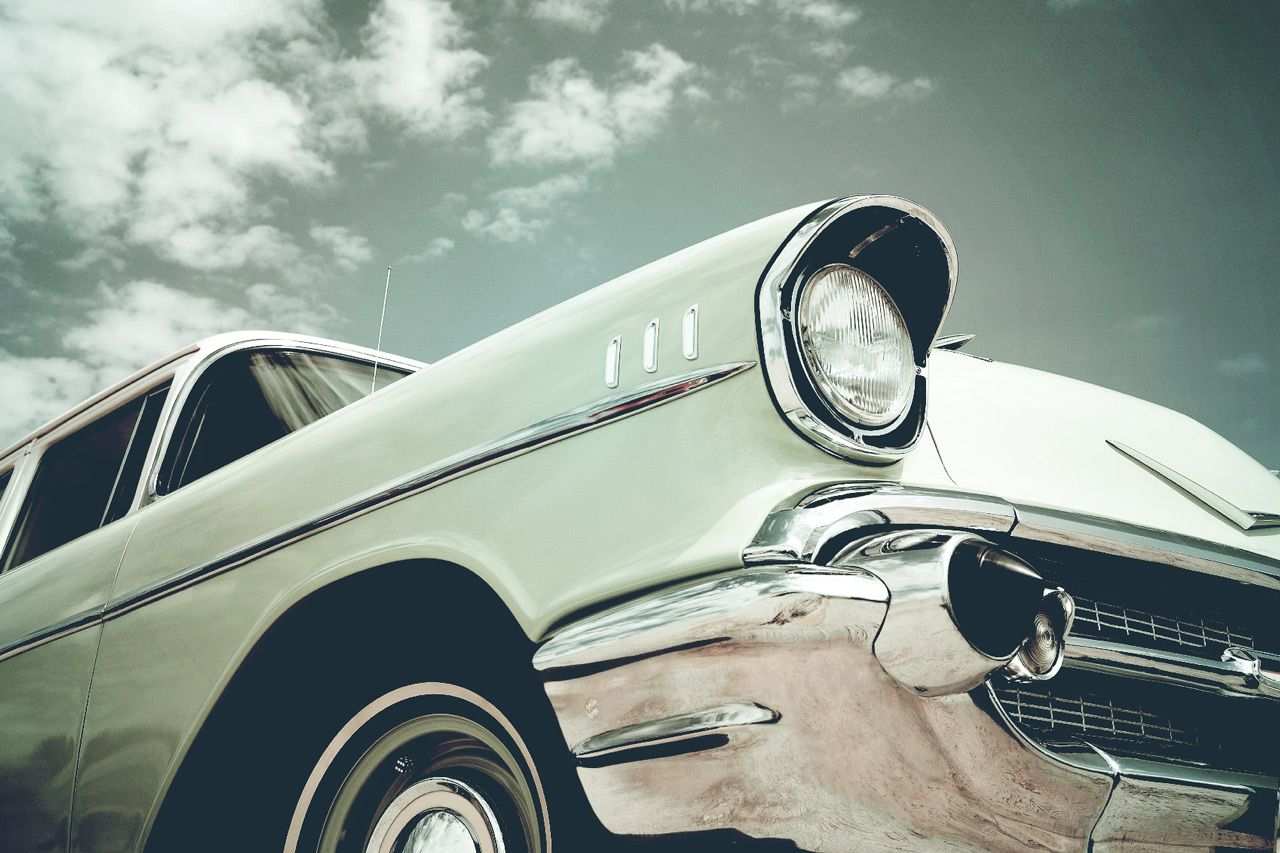 Oude auto die geen wegenbelasting kent